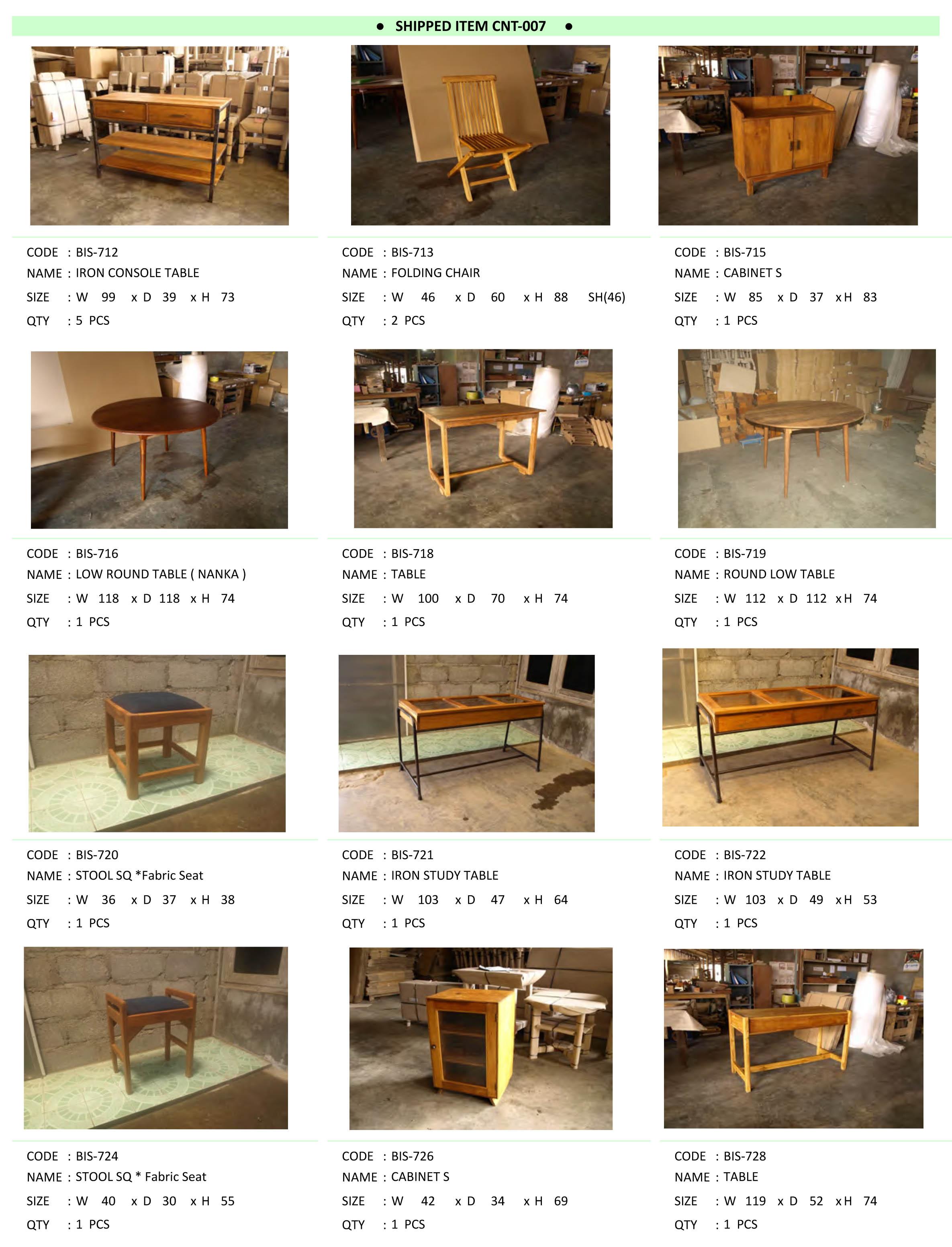 2015年12月入荷アンティーク家具一覧1