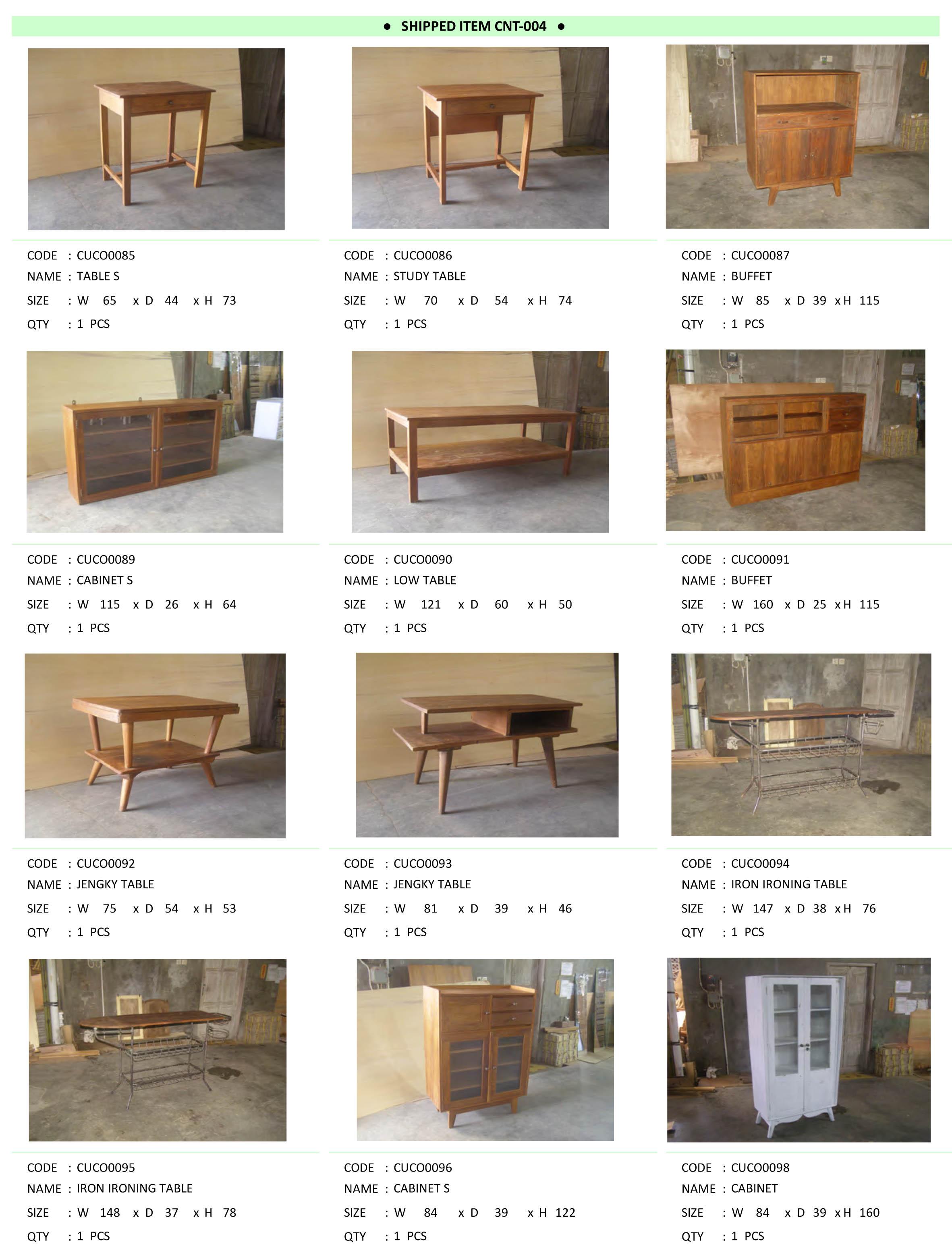 2015年4月入荷アンティーク家具一覧3