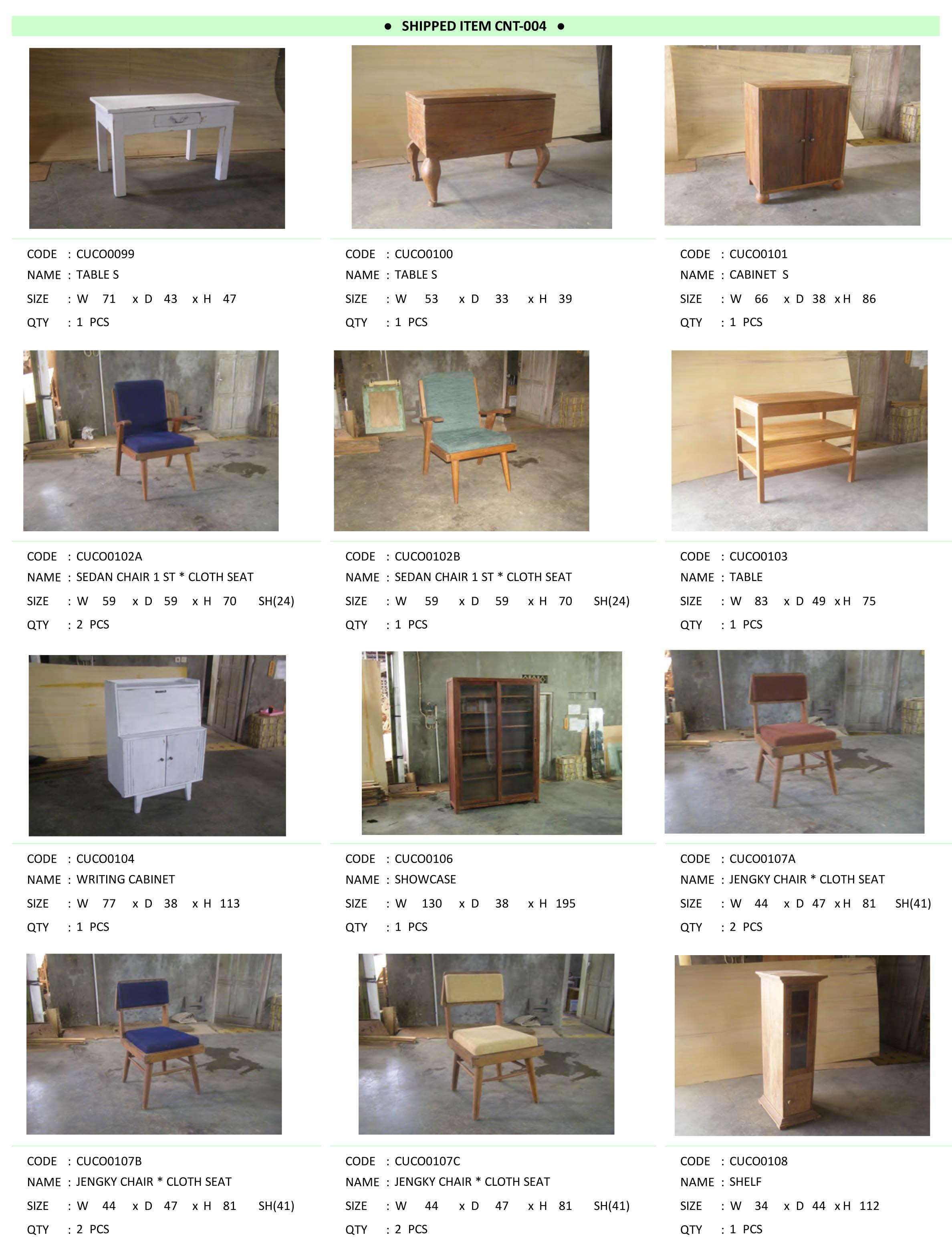 2015年4月入荷アンティーク家具一覧4