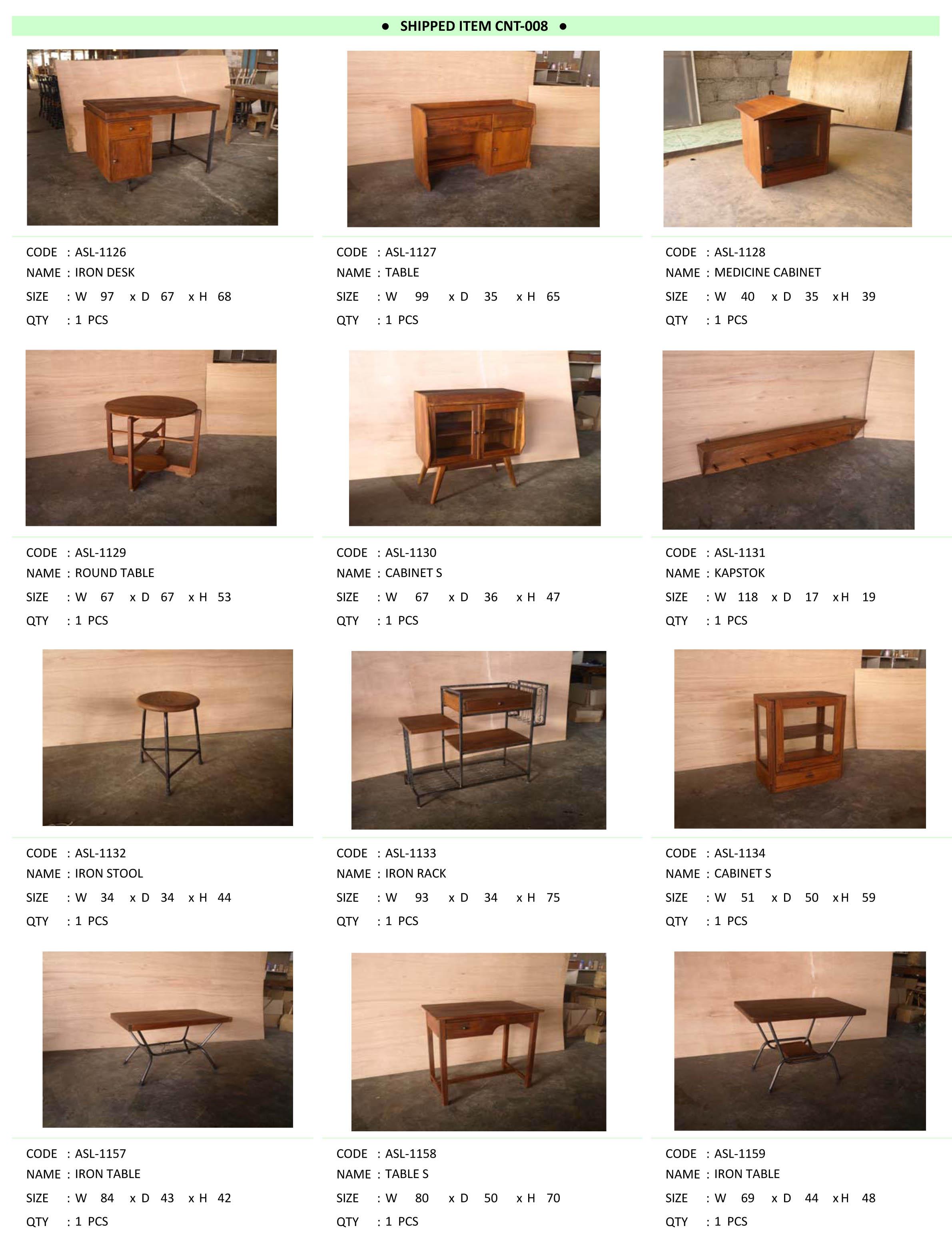 2016年1月入荷アンティーク家具一覧9