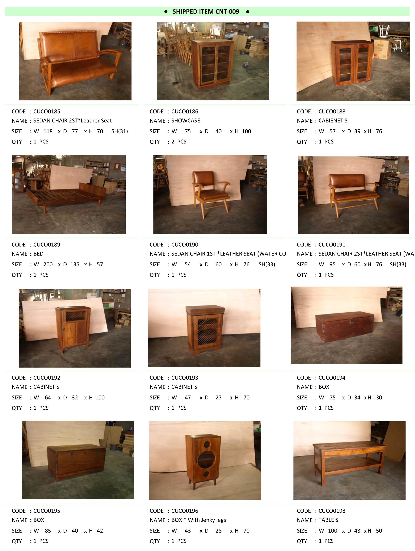 2016年3月入荷アンティーク家具一覧3