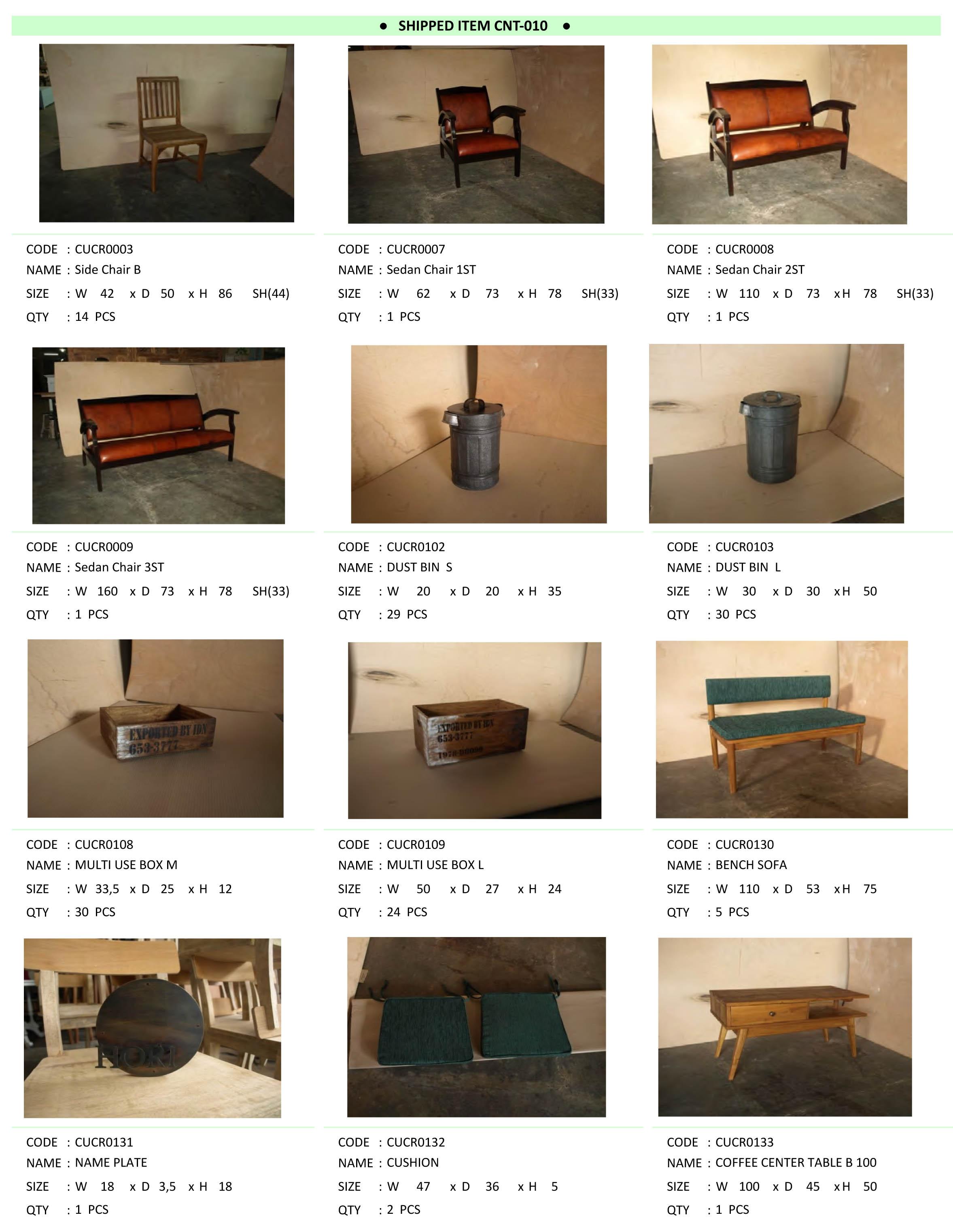 2016年5月入荷アンティーク家具一覧2