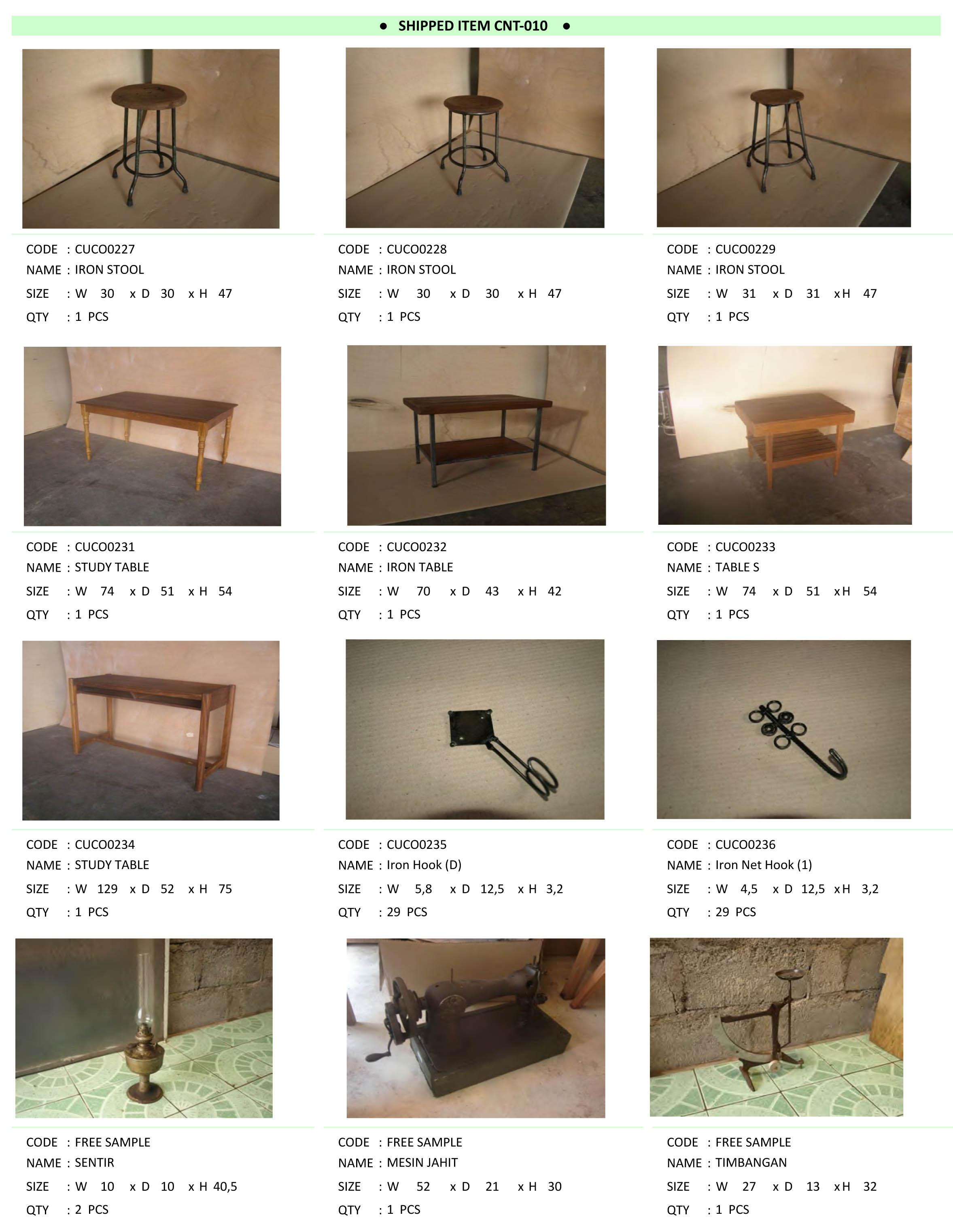 2016年5月入荷アンティーク家具一覧5