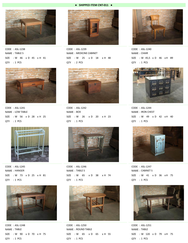 2016年6月入荷アンティーク家具一覧8